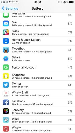 bluetooth battery usage