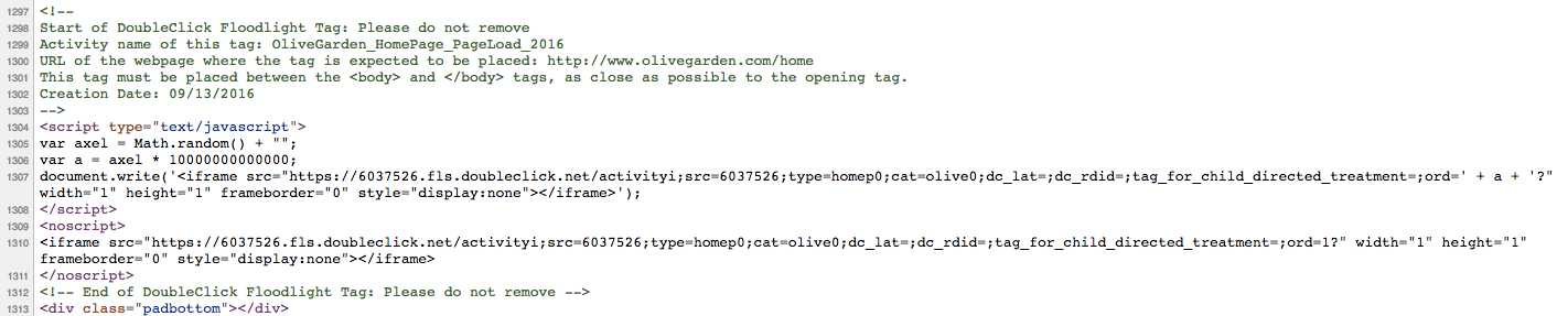 Olive Garden DoubleClick by Google Tag.png