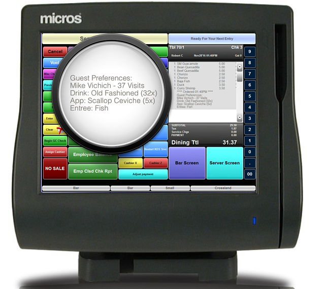 Micros Aloha Positouch POS Integration | Wisely Table Management
